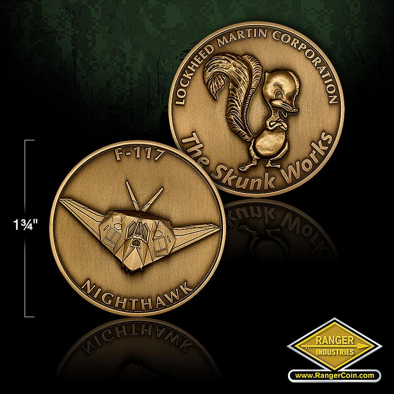 RZ0041 F-117 Skunk Works coin