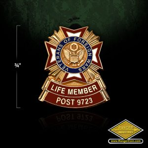 RA0241 VFW Post 9723 Life Member Pins