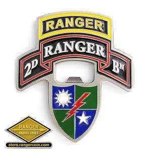 2nd Ranger Battalion Bottle opener Obverse - 2D Ranger BN