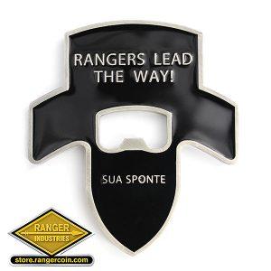 2nd Ranger Battalion Bottle opener Reverse - Rangers Lead the Way, Sua Sponte
