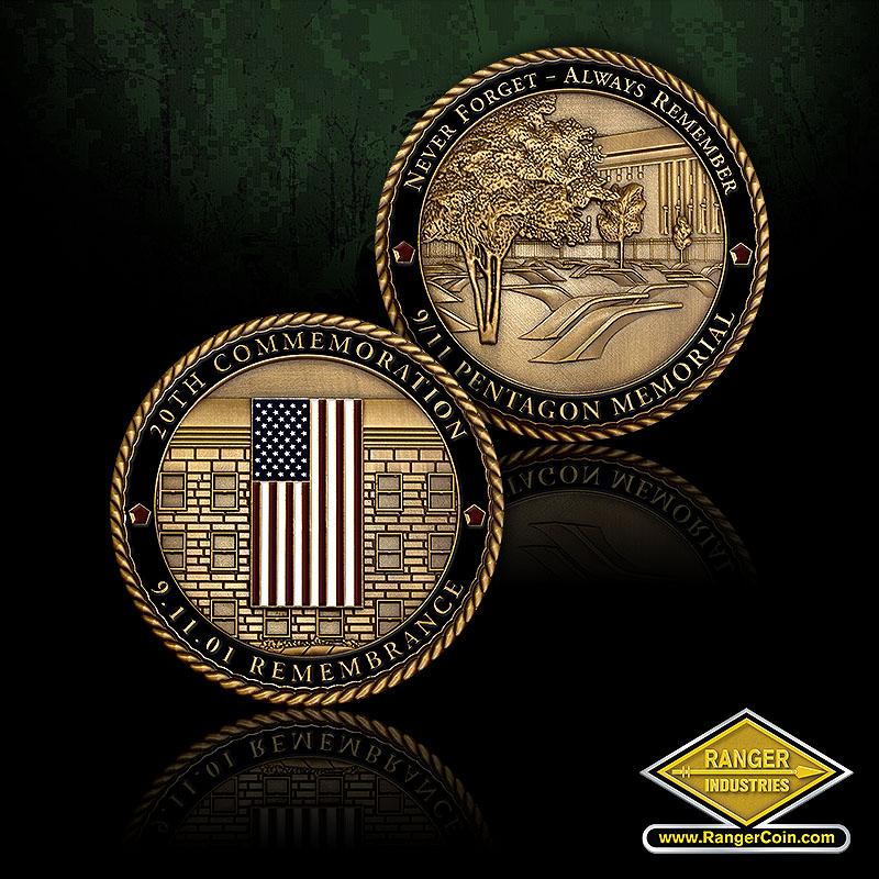 RZ0073 Pentagon Memorial Coin